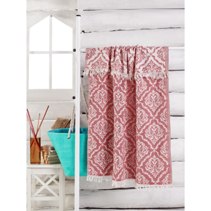 Červený ručník Varak, 180 x 100 cm