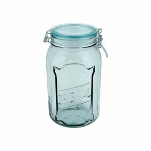 Čirá sklenice z recyklovaného skla s uzávěrem Ego Dekor Original, 1,9 l