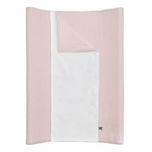 Růžová dětská lněná voděodolná podložka na přebalování BELLAMY Dusty Pink, 50x70cm