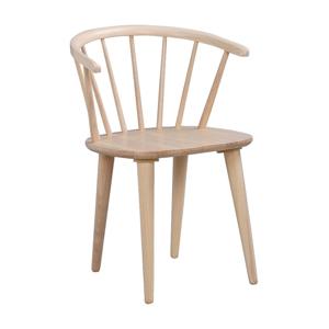 Světle hnědá jídelní židle ze dřeva kaučukovníku Rowico Carmen