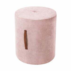 Světle růžová taburetka Kooko Home Motion, ø40cm