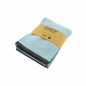 Sada 3 světle modrých bavlněných utěrek Tiseco Home Studio, 50 x 70 cm