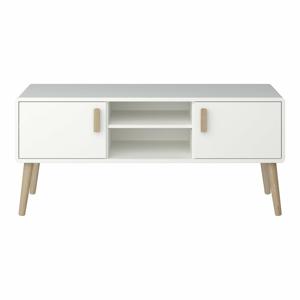 Krémově bílá TV komoda Steens Pavona, 55,6 x 125,2 cm