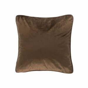 Tmavě hnědý polštář Tiseco Home Studio Velvety, 45x45cm