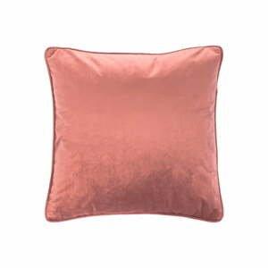 Růžový polštář Tiseco Home Studio Velvety, 45x45cm