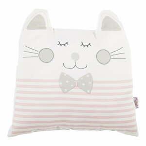 Růžový dětský polštářek s příměsí bavlny Apolena Pillow Toy Big Cat, 29 x 29 cm