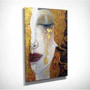 Nástěnná reprodukce na plátně Gustav Klimt Golden Tears, 30 x 40 cm