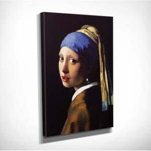 Nástěnná reprodukce na plátně Johannes Vermeer The Girl with Pearl, 30 x 40 cm