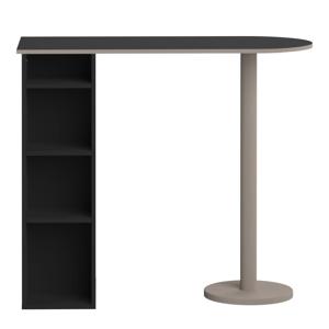 Černý barový stůl s policemi TemaHome Gélas