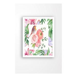 Nástěnný obraz na plátně v bílém rámu Tablo Center Garden Friends, 29 x 24 cm