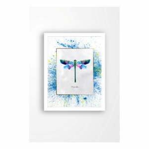 Nástěnný obraz na plátně v bílém rámu Tablo Center Dragonfly, 29 x 24 cm