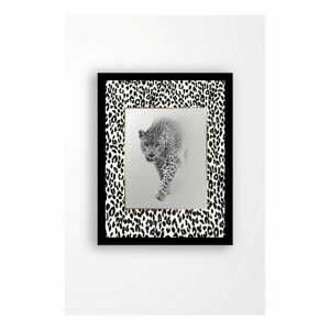 Nástěnný obraz na plátně v černém rámu Tablo Center Beast, 29 x 24 cm