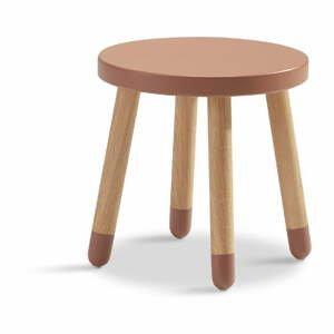 Růžová dětská stolička Flexa Play, ø 30 cm