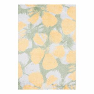 Zeleno-žlutý koberec White Label Grun, 50 x 70 cm