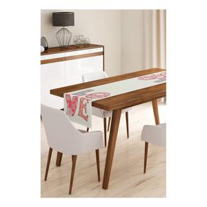 Běhoun na stůl z mikrovlákna Minimalist Cushion Covers Love, 45x145cm