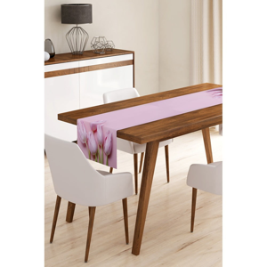 Běhoun na stůl z mikrovlákna Minimalist Cushion Covers Tulips, 45x145cm