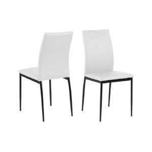 Bílá jídelní židle Actona Demina