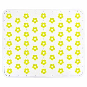 Žlutá podložka do dřezu Wenko Sink Mat Fleurelle, 32x26,5cm