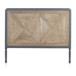 Dřevěné postelové čelo Geese Rustico Duro, 120 x 145 cm