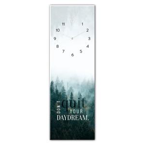 Skleněné nástěnné hodiny Styler Daydream, 20 x 60 cm