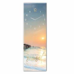 Skleněné nástěnné hodiny Styler Sunset, 20 x 60 cm
