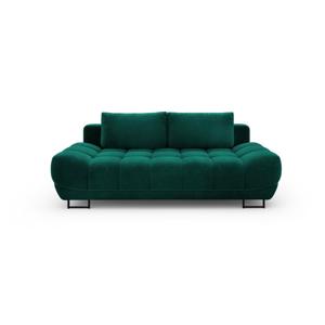 Lahvově zelená třímístná rozkládací pohovka se sametovým potahem Windsor & Co Sofas Cirrus