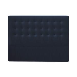Tmavě modré čelo postele se sametovým potahem Windsor & Co Sofas Athena, 140x120cm