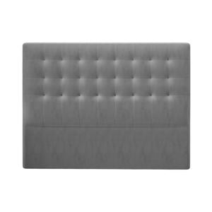 Šedé čelo postele se sametovým potahem Windsor & Co Sofas Athena, 180x120cm