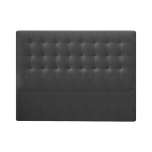 Tmavě šedé čelo postele se sametovým potahem Windsor & Co Sofas Athena, 160x120cm