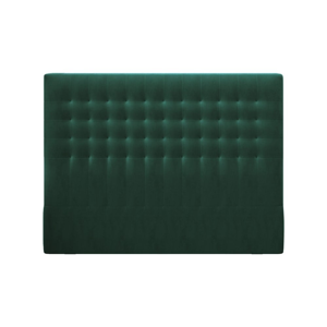 Lahvově zelené čelo postele se sametovým potahem Windsor & Co Sofas Apollo, 160x120cm