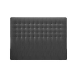 Tmavě šedé čelo postele se sametovým potahem Windsor & Co Sofas Apollo, 180x120cm