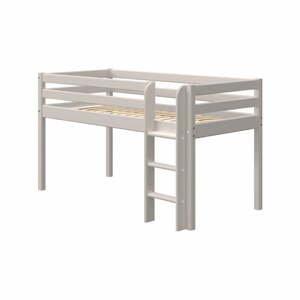 Šedá dětská postel z borovicového dřeva Flexa Classic, výška 120 cm