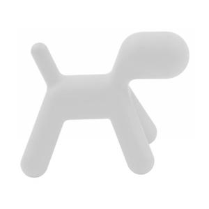 Bílá dětská stolička ve tvaru psa Magis Puppy, výška55,5cm