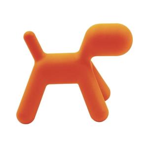 Oranžová dětská stolička ve tvaru psa Magis Puppy, výška45cm