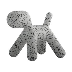 Šedo-černá dětská stolička ve tvaru psa Magis Puppy, výška45cm