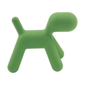 Zelená dětská stolička ve tvaru psa Magis Puppy, výška34,5cm