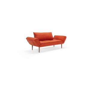 Červená polohovatelná lenoška Innovation Zeal Elegance Paprika