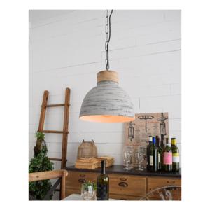 Světle šedé stropní svítidlo Orchidea Milano Old Factory, ø30cm