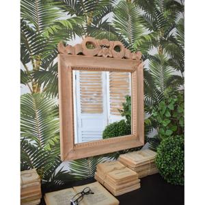 Zrcadlo z mangového dřeva Orchidea Milano Antique, 60x50cm