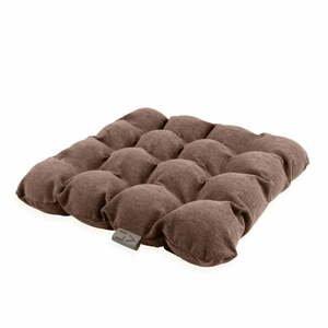 Hnědý sedací polštářek s masážními míčky Linda Vrňáková Bubbles, 45x45cm