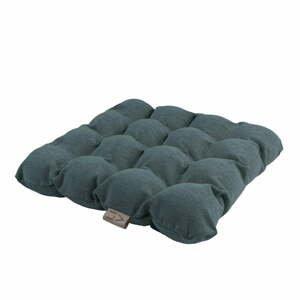 Šedomodrý sedací polštářek s masážními míčky Linda Vrňáková Bubbles, 45x45cm