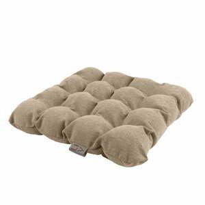 Béžový sedací polštářek s masážními míčky Linda Vrňáková Bubbles, 45x45cm