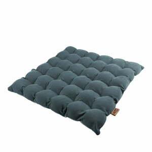 Šedomodrý sedací polštářek s masážními míčky Linda Vrňáková Bubbles, 65x65cm