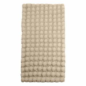 Béžová relaxační masážní matrace Linda Vrňáková Bubbles, 110x200cm