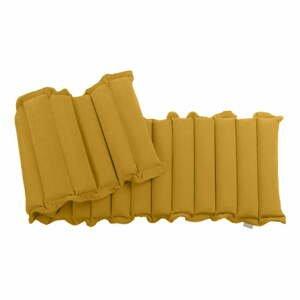 Tmavě žlutá relaxační masážní matrace Linda Vrňáková Waves, 60x200cm