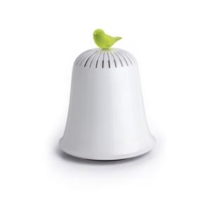 Bílo-zelená kasička Qualy&CO Saved The Bell