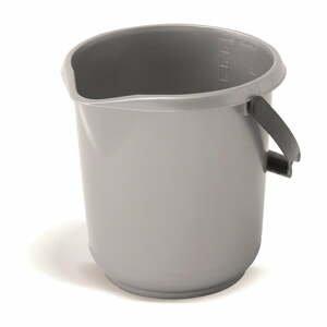 Šedý kbelík Addis Clean, 10 l