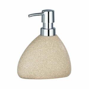Béžový keramický dávkovač na mýdlo Wenko Pion