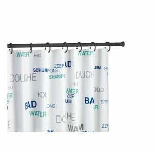 Černá teleskopická tyč na sprchový závěs Wenko Shower Curtain Rod