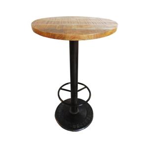 Barový stolek s deskou z mangového dřeva Antic Line Mange, ø60cm